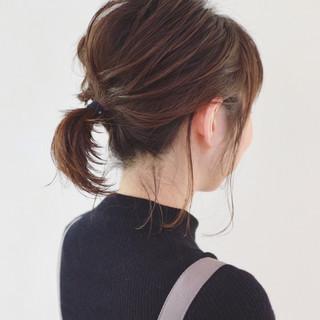 レイヤーカット ミディアム グラデーションカラー ボブアレンジ ヘアスタイルや髪型の写真・画像