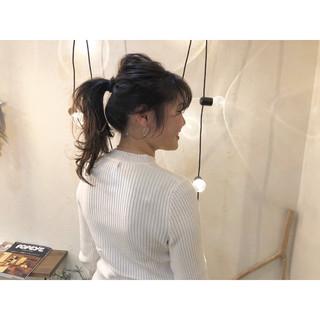 簡単ヘアアレンジ ポニーテールアレンジ デート ポニーテール ヘアスタイルや髪型の写真・画像 ヘアスタイルや髪型の写真・画像