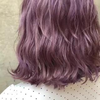 外国人風カラー ミディアム グラデーションカラー バレイヤージュ ヘアスタイルや髪型の写真・画像