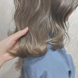 セミロング 韓国ヘア 外国人風カラー ナチュラル ヘアスタイルや髪型の写真・画像