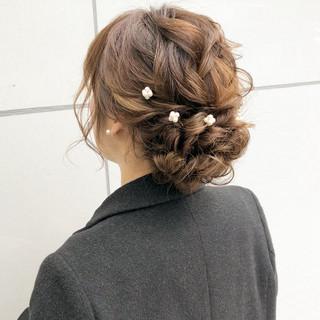セミロング ナチュラル 簡単ヘアアレンジ デート ヘアスタイルや髪型の写真・画像