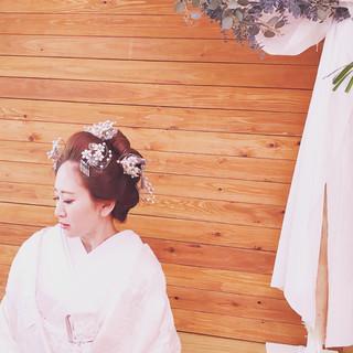 和服 着物 エレガント 上品 ヘアスタイルや髪型の写真・画像