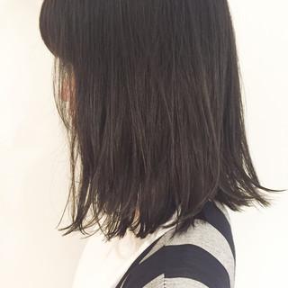 ストリート ハイライト 暗髪 ミディアム ヘアスタイルや髪型の写真・画像