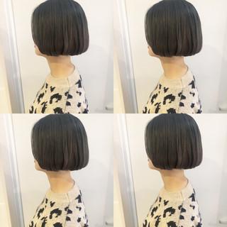 ヘアアレンジ アンニュイほつれヘア 韓国 ボブ ヘアスタイルや髪型の写真・画像