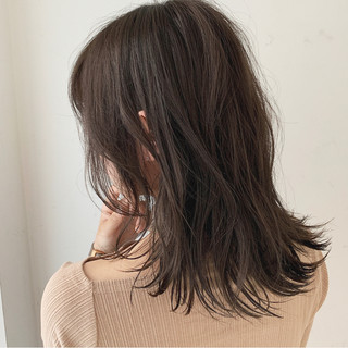 アディクシーカラー アンニュイ ゆるふわセット セミロング ヘアスタイルや髪型の写真・画像