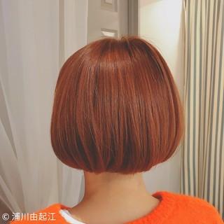 フェミニン 外国人風カラー ボブ ゆるふわ ヘアスタイルや髪型の写真・画像