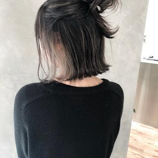 ストリート グレージュ アッシュ 外国人風 ヘアスタイルや髪型の写真・画像
