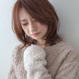 デート フェミニン 大人かわいい 冬カラー ヘアスタイルや髪型の写真・画像