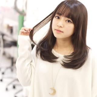 ガーリー 前髪あり 大人かわいい フェミニン ヘアスタイルや髪型の写真・画像