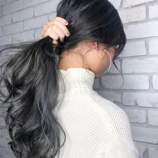 ハイライト ロング 3Dハイライト バレイヤージュ ヘアスタイルや髪型の写真・画像