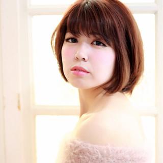 フェミニン ボブ 色気 ショートボブ ヘアスタイルや髪型の写真・画像