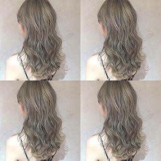 ガーリー グラデーションカラー ロング ハイライト ヘアスタイルや髪型の写真・画像