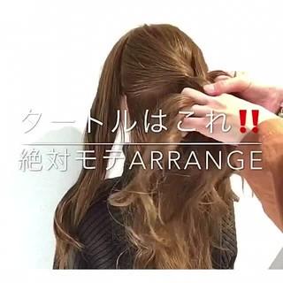 結婚式 ロング オフィス ヘアアレンジ ヘアスタイルや髪型の写真・画像