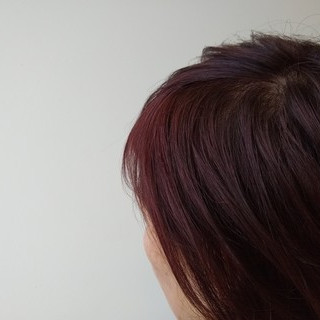 ピンクブラウン ショートボブ ショート ハイライト ヘアスタイルや髪型の写真・画像