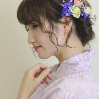 和装 まとめ髪 ヘアアレンジ 夏 ヘアスタイルや髪型の写真・画像