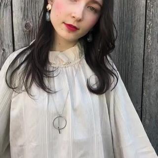 大人かわいい アンニュイほつれヘア デジタルパーマ ゆるウェーブ ヘアスタイルや髪型の写真・画像