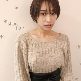 ゆるナチュラル ショートボブ ショート ショートヘア ヘアスタイルや髪型の写真・画像