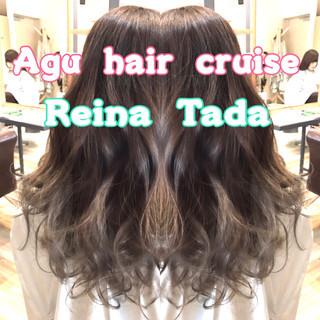 外国人風 フェミニン 外国人風カラー 抜け感 ヘアスタイルや髪型の写真・画像