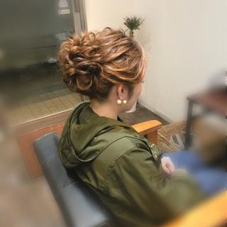 ヘアセット アップ フェミニン ロング ヘアスタイルや髪型の写真・画像