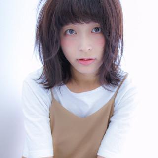 暗髪 ガーリー 大人かわいい フェミニン ヘアスタイルや髪型の写真・画像