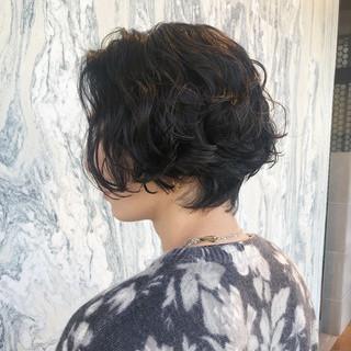 ショート メンズヘア メンズパーマ パーマ ヘアスタイルや髪型の写真・画像