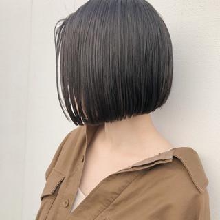 まとまるボブ ナチュラル可愛い ハンサムボブ 前下がりボブ ヘアスタイルや髪型の写真・画像 ヘアスタイルや髪型の写真・画像