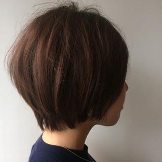 似合わせ 透明感 ショート 秋 ヘアスタイルや髪型の写真・画像