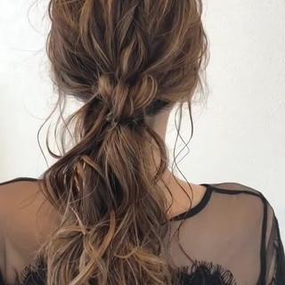 大人かわいい 涼しげ ロング 夏 ヘアスタイルや髪型の写真・画像