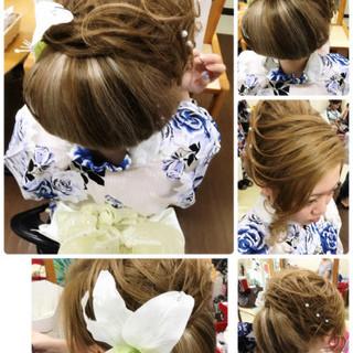 大人女子 ヘアアレンジ 和装 ロング ヘアスタイルや髪型の写真・画像