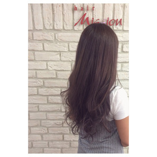 ロング ハイライト ピンク ラベンダーアッシュ ヘアスタイルや髪型の写真・画像