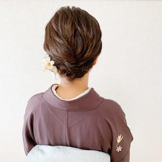 ボブ エレガント 着物 訪問着 ヘアスタイルや髪型の写真・画像
