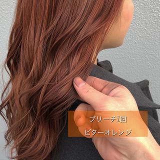 ヘアカラー 初カラー ブリーチ ストリート ヘアスタイルや髪型の写真・画像
