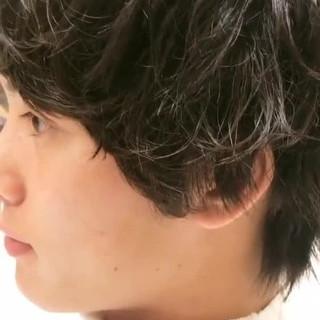 モテ髪 リラックス ボーイッシュ パーマ ヘアスタイルや髪型の写真・画像