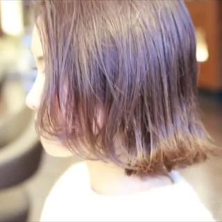 ブリーチオンカラー ハイライト ヘアアレンジ ボブ ヘアスタイルや髪型の写真・画像