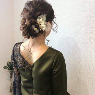 ヘアセット アップ 結婚式 アップスタイル ヘアスタイルや髪型の写真・画像