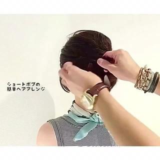 リラックス アウトドア 夏 ヘアアレンジ ヘアスタイルや髪型の写真・画像