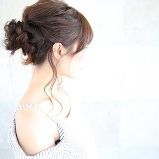 ヘアアレンジ 透明感 結婚式 秋 ヘアスタイルや髪型の写真・画像