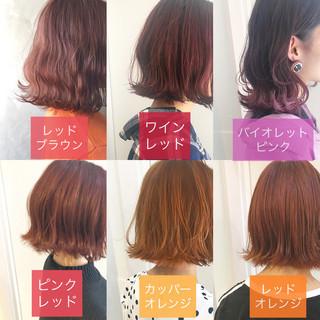 外国人風カラー ヘアアレンジ ナチュラル ボブ ヘアスタイルや髪型の写真・画像