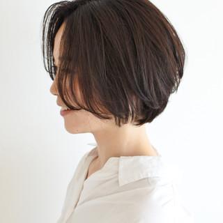 ショート ひし形シルエット 外国人風カラー 小顔ショート ヘアスタイルや髪型の写真・画像