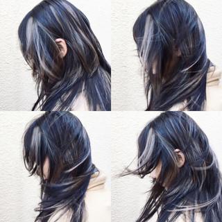 ダブルカラー ロング インナーカラー 外国人風 ヘアスタイルや髪型の写真・画像