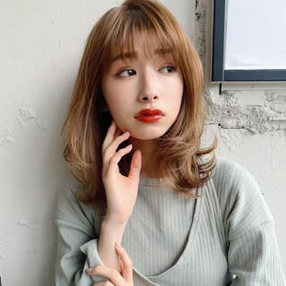 ミディアム ひし形シルエット 大人ミディアム デジタルパーマ ヘアスタイルや髪型の写真・画像