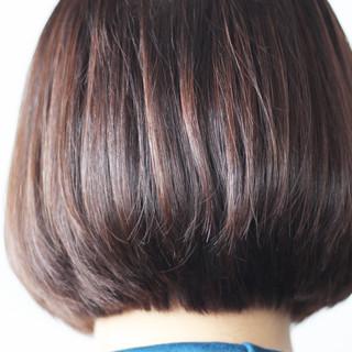 ボブ 青紫 ナチュラル ブルーバイオレット ヘアスタイルや髪型の写真・画像