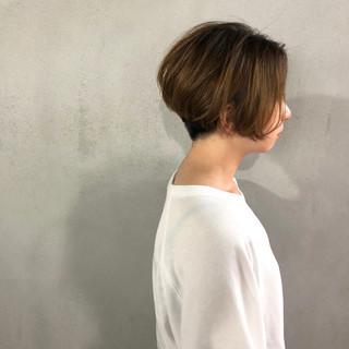 ショート ナチュラル 似合わせ 刈り上げ ヘアスタイルや髪型の写真・画像