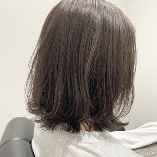 切りっぱなしボブ 似合わせカット 大人かわいい 切りっぱなし ヘアスタイルや髪型の写真・画像
