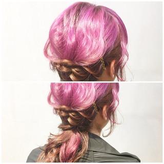 パープルカラー インナーカラーパープル パープルアッシュ パープル ヘアスタイルや髪型の写真・画像