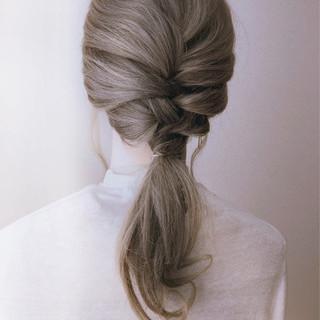 ヘアアレンジ ロング フェミニン 花嫁 ヘアスタイルや髪型の写真・画像 ヘアスタイルや髪型の写真・画像