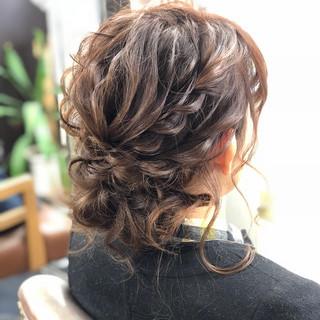 結婚式 かわいい ゆるふわ フェミニン ヘアスタイルや髪型の写真・画像
