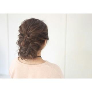 フェミニン 編み込み 外国人風 アップスタイル ヘアスタイルや髪型の写真・画像
