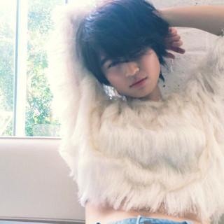黒髪 秋 モード 外国人風 ヘアスタイルや髪型の写真・画像