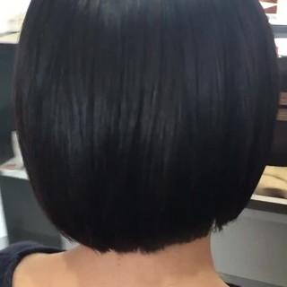 まとまるボブ 切りっぱなしボブ ショートボブ ボブ ヘアスタイルや髪型の写真・画像 ヘアスタイルや髪型の写真・画像